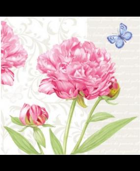 Χαρτοπετσετες για decoupages Λουλούδια - Πεταλούδα