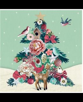 Χαρτοπετσέτες Decoupage 35 x 35 δέντρο χριστουγεννίατικο