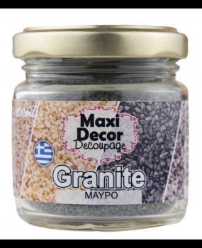 Ειδικά Εφέ ''Granites κοκκους μαύρο'' για decoupage 100ml