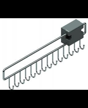 Κρεμάστρα για ζώνες συρταρωτή inox S 6053 46cm x 12,5cm x 3,5cm